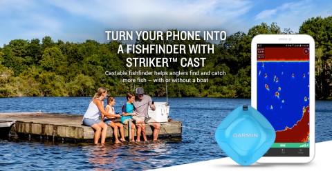 Garmin brings sonar to a mobile device with STRIKER Cast, so anglers can find and catch more fish – with or without a boat. (Photo: Business Wire)