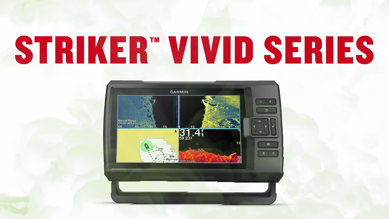 The new STRIKER Vivid fishfinder series from Garmin offers best-in-class sonar with seven new high-contrast color palettes that make it easier to see what's beneath the surface.
