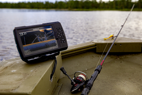 The new STRIKER Vivid fishfinder series from Garmin offers best-in-class sonar with seven new high-contrast color palettes that make it easier to see what's beneath the surface. (Photo: Business Wire)