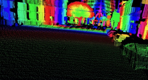 LiDAR point cloud output combining HD resolution and long-distance range. (Photo: Business Wire)