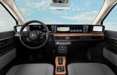 Figure1. Honda E Dashboard Stock Photo (Photo: Business Wire)