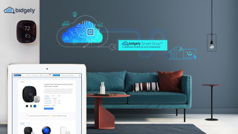 The Bidgely Smart Shop™ marketplace experience for utilities and energy retailers integrates AI-powered personalization and tailored opportunities for customers to save energy and money from their preferred channel. (Photo: Business Wire)