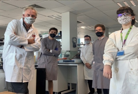 Dr. Luke A.J. O'Neill (left) and his colleagues (Credit: Luke A.J. O'Neill)