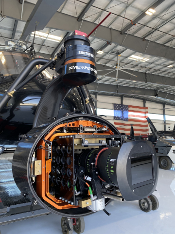 ARRI Alexa LF and Signature Zoom 65-300 full frame lens used for the ARRI Signature Zoom test shoot with XM2 PURSUIT's helicopter and SHOTOVER and K1 gimbal. (Photo: Business Wire)