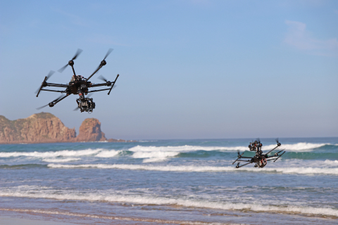 ARRI Alexa Minis in top mount and bottom mount configuration on the XM2 PURSUIT Tango II aircraft.  (Photo: Business Wire)