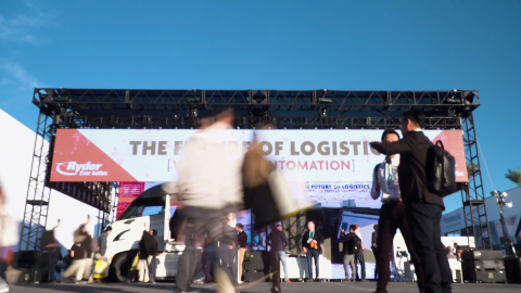 """Ryder focused on the """"Future of Logistics"""" at the CES 2020 show in Las Vegas. The company showcased its investment in cutting-edge technologies aimed at advancing the logistics industry, while seeking out the latest innovations and the start-ups behind them. (Photo: Business Wire)"""