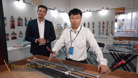 Ferro Carbon presenting their popular product – Heavy Duty Tile Cutter. (Photo: Business Wire)
