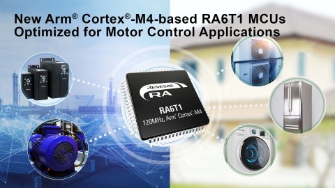 New Arm Cortex-M4-based RA6T1 MCUs optimized for motor control applications (Graphic: Business Wire)