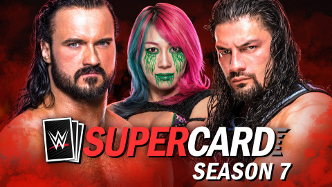 2K announced that Season 7 of WWE® SuperCard, the newest addition to the action-packed collectible card-battling game, is scheduled to launch in November 2020 as a free, downloadable update on the Apple App Store for iOS devices, including iPhone® and iPad®, as well as the Google Play Store and Amazon Appstore for Android™ devices* and Facebook Gaming. (Photo: Business Wire)