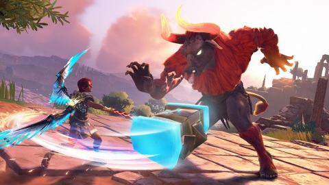 Immortals Fenyx Rising launches for Nintendo Switch on Dec. 3, with pre-orders beginning today! (Graphic: Business Wire)