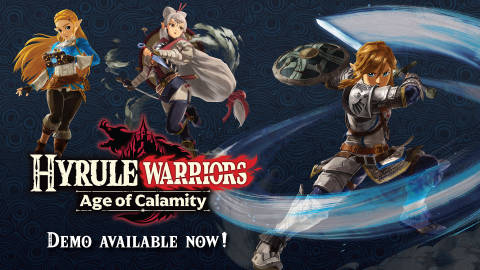 Before the Hyrule Warriors: Age of Calamity game launches for Nintendo Switch on Nov. 20, fans will be able to try out a free demo for the game, available now in Nintendo eShop. (Graphic: Business Wire)
