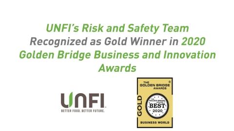UNFI's Risk and Safety Team Recognized as Gold Winner in 2020 Golden Bridge Business and Innovation Awards (Graphic: Business Wire)