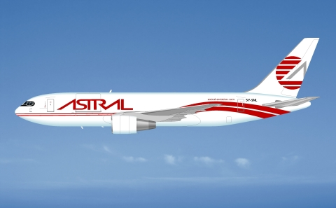 ATSG has delivered a Boeing 767 freighter to Astral Aviation of Kenya. (Photo: Business Wire)