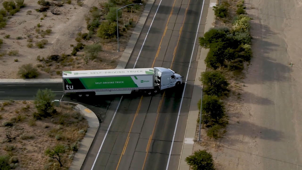 TuSimple is the world's largest and most advanced self-driving truck company.