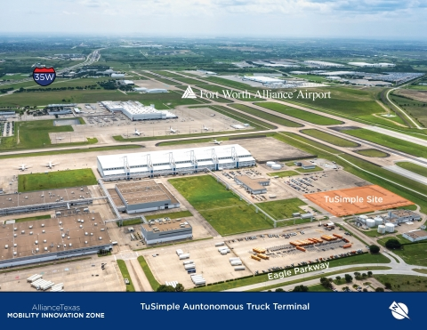 TuSimple and Hillwood have joined forces at AllianceTexas' Mobility Innovation Zone (MIZ) to expand TuSimple's cross country autonomous freight corridor. (Photo: Business Wire)