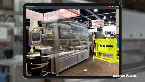 AR digital work instruction for tool change on a Mondini tray sealer. (Photo: Business Wire)