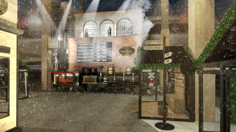 A rendering of The Holiday Market at Westfield Century City in Los Angeles, CA. (Photo: Business Wire)