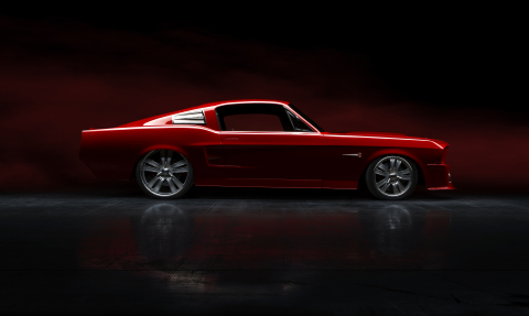 The Kendall Custom 1967 Mustang GT 500 Restomod. Photo: Differential Imagery