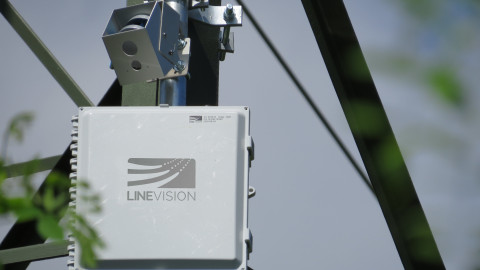 Powered by Velodyne's Puck™ sensor, the LineVision V3 system assists utilities by identifying operational anomalies in power lines, helping to mitigate events that could cause wildfires or damage before they happen. (Photo: LineVision, Inc.)