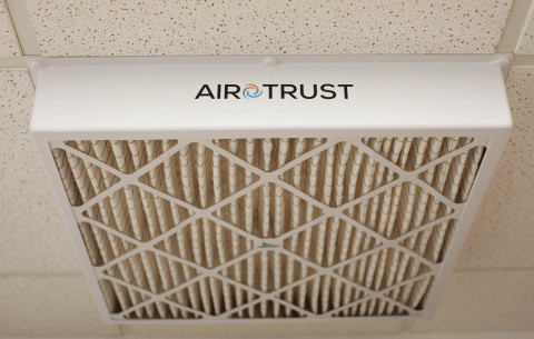 Airotrust filter and housing easily installs magnetically in many buildings. (Photo: Business Wire)