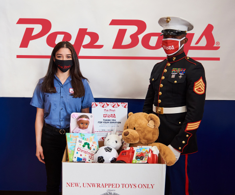 Pep Boys is returning as a national sponsor of Toys for Tots, the annual program run by the U.S. Marines that collects new, unwrapped toys and distributes them to less fortunate children in the local community. (Photo: Business Wire)