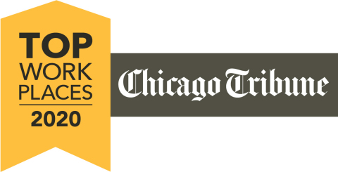 UScellular has been awarded a Top Workplaces 2020 honor by The Chicago Tribune. (Graphic: Business Wire)