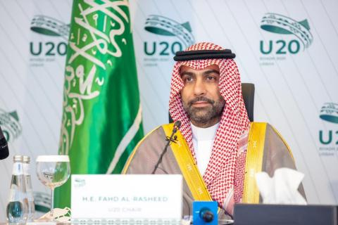 U20 Chair H.E. Fahd Al-Rasheed at the U20 Mayors Summit (Photo: AETOSWire)