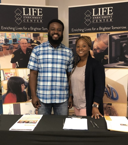 """""""It's exciting to know my organization, the Life Enrichment Center in Hampton Roads, VA, will receive a $1,000 grant through the Dollars for Doers program. I volunteer to make a difference in my community and be a positive impact on the students I tutor. Volunteering is so rewarding and I'm grateful to have an employer that understands the importance of giving back to our communities,"""" Devail Echols, business systems analyst at Navy Federal. (Photo: Business Wire)"""