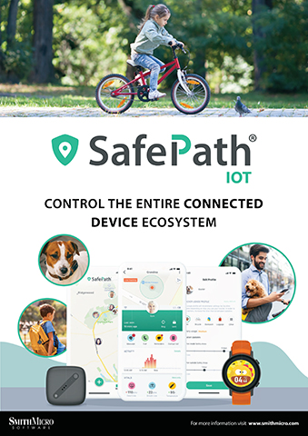 SafePath® IoT brings SafePath's powerful location services to consumer IoT devices like wearables, GPS trackers, pet lifestyle devices, and more. Built on the LwM2M standard, SafePath IoT is an interoperable platform that accelerates device time-to-market. (Photo: Smith Micro)
