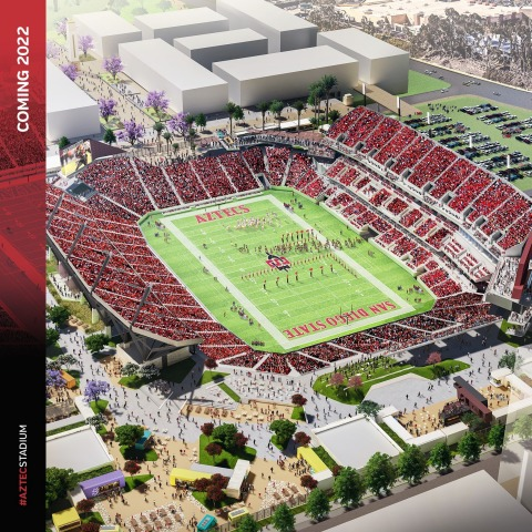 San Diego State University selects Boingo to design, build and manage a 5G-ready DAS network for the university's new multi-use Aztec Stadium. (Photo: Business Wire)