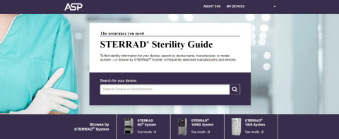 ASP's New STERRAD® Sterility Guide includes helpful new features for SPD professionals (Photo: Business Wire)