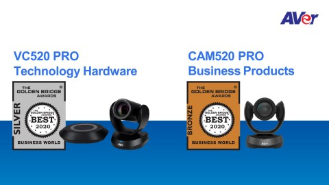 AVer VC520 PRO and CAM520 PRO awarded in the 12th Annual 2020 Golden Bridge Business and Innovation Awards®. (Graphic: Business Wire)