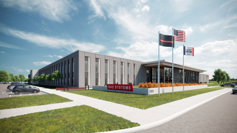 BAE Systems is investing more than $100 million to build a state-of-the-art facility in Cedar Rapids, Iowa to support its newly acquired Navigation & Sensor Systems business. Image source: OPN Architects, Inc.