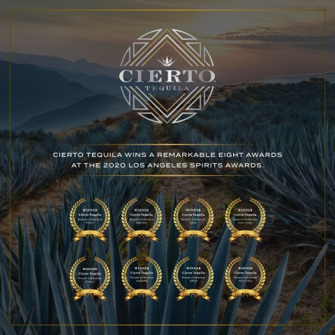 CIERTO TEQUILA WINS A REMARKABLE  EIGHT AWARDS AT THE 2020 LOS ANGELES SPIRITS AWARDS. <a href=