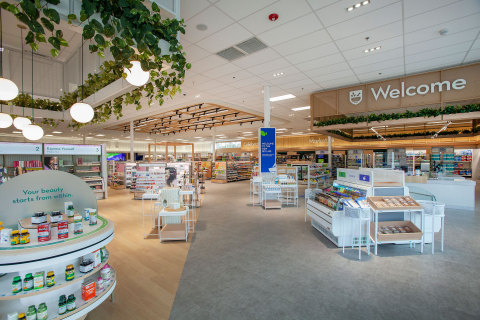 """Rite Aid """"Stores of the Future"""" showcase a modern store design concept focused on whole health, revolutionizing the classic drug store experience by bringing pharmacists out from behind the counter and into the open. (Photo: Business Wire)"""