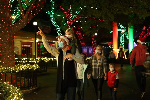 Six Flags is decking the halls for Holiday in the Park and the new Holiday in the Park Lights at select parks. Celebrate the sights, sounds, and tastes of the holiday season in a safe, outdoor environment. (Photo: Business Wire)