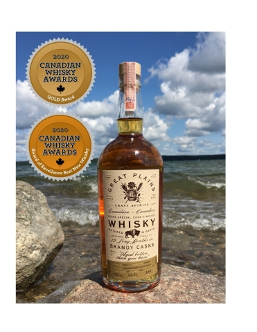 Great Plains Craft Spirits receives 2020 Canada Whisky Award of Excellence Best New Whisky (Photo: Business Wire)