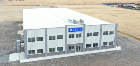 Raven Industries' new Canadian Headquarters near Regina, SK. With significant capacity for machine production and five acres for testing, this facility is positioned to be the central campus for precision and autonomous agriculture innovation, training and service for Raven Canada. (Photo: Business Wire)
