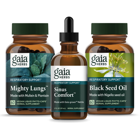 Gaia Herbs Respiratory Line Family Image (Photo: Business Wire)