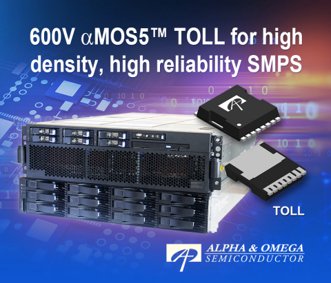 Fast Switching 600V αMOS5™ Super Junction MOSFETs in SMD-type TOLL Package (Graphic: Business Wire)