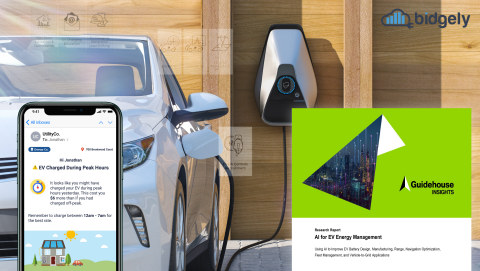 """Guidehouse Insights has recognized Bidgely's EV solutions in a new report """"AI for EV Energy Management,"""" which documents current uses of AI to improve EV hardware and services as well as market forecasts on future AI capabilities for EVs. (Photo: Business Wire)"""