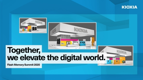 KIOXIA America's FMS event platform, 3D virtual booth, demos and presentations can be accessed by registering for FMS: https://www.expotracshows.com/flash-memory/2020. (Graphic: Business Wire)