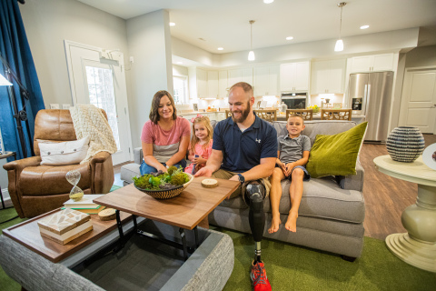 Wayfair recently worked with Homes For Our Troops to furnish a custom home for Army Sergeant Nathan Shumaker and his family (Photo: Business Wire)