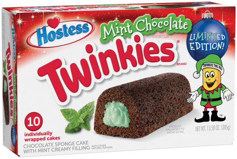 Hostess® Mint Chocolate Flavored Twinkies® (Photo: Business Wire)