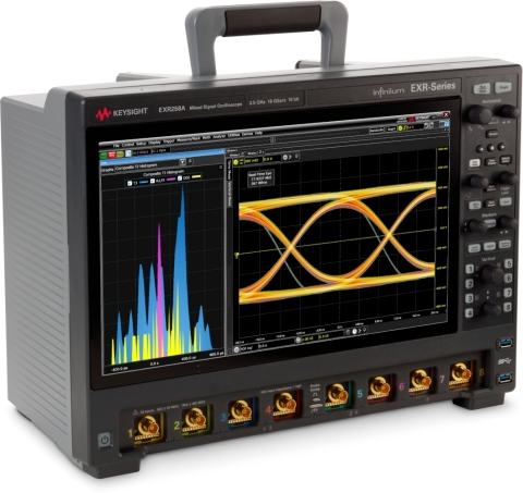 Keysight's Infiniium EXR-Series Mixed Signal Oscilloscopes include eight models ranging from 500 MHz to 2.5 GHz and either 4 or 8 channels with wide-ranging upgradeability. The EXR-Series' waveform update rate is >200,000 waveforms/sec., allowing it to quickly build eye-diagrams capturing 5.7 Million UIs. (Photo: Business Wire)