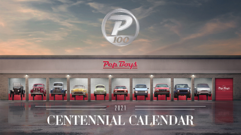 Pep Boys, one of the country's leading automotive service networks, and an Icahn Enterprises L.P. company, will mark its centennial anniversary in 2021. To celebrate this Veterans Day and ahead of the new year, Pep Boys has released a commemorative calendar that takes a trip through the decades using the vehicles and milestones of the times. (Photo: Business Wire)