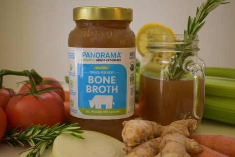 Panorama's organic bone broth, a popular health drink and base for soups, sauces and gravies, has large amounts of natural collagen, minerals and gelatin released from the bones during the prolonged simmering process. Perfect for the upcoming soup season! (Photo: Business Wire)