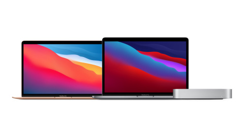 The new MacBook Air, 13-inch MacBook Pro, and Mac mini are now powered by M1, Apple's revolutionary chip. (Photo: Business Wire)
