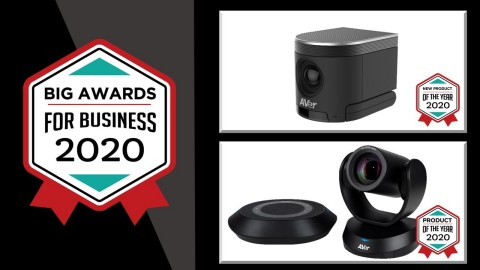 AVer's BIG Awards Winners TOP: CAM340+, BOTTOM: VC520 PRO (Graphic: Business Wire)