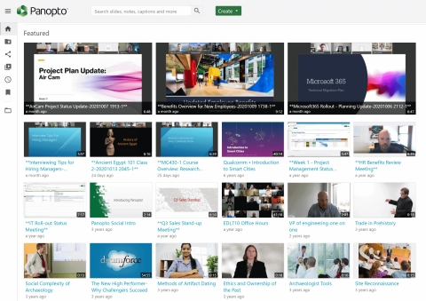Panopto provides a secure, YouTube-like video portal for managing and sharing Webex recordings at scale. (Graphic: Business Wire)
